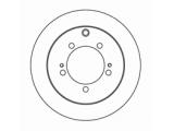 Тормозной диск  Диск тормозной MITSUBISHI LANCER 00>/OUTLANDER 03>08 (R14) задний  Диаметр [мм]: 262 Высота [мм]: 60,5 Тип тормозного диска: полный Толщина тормозного диска (мм): 10,0 Минимальная толщина [мм]: 8,4 Диаметр центрирования [мм]: 90 Число отверстий в диске колеса: 5