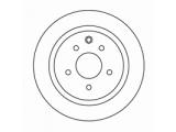 Тормозной диск  Диск торм.зад.QASHQAI 07-  Диаметр [мм]: 292 Высота [мм]: 62,1 Тип тормозного диска: полный Толщина тормозного диска (мм): 9,0 Минимальная толщина [мм]: 8 Диаметр центрирования [мм]: 68 Число отверстий в диске колеса: 5