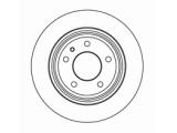 Тормозной диск  Диск торм зад E34 89-97 (DF2557)  Диаметр [мм]: 300 Высота [мм]: 61,2 Тип тормозного диска: полный Толщина тормозного диска (мм): 10,0 Минимальная толщина [мм]: 8,4 Диаметр центрирования [мм]: 75 Число отверстий в диске колеса: 5