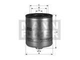 Топливный фильтр  Фильтр топливный MITSUBISHI PAJERO/L200 2.5D/HYUNDAI PORTER/H-1 2  Внешний диаметр [мм]: 89,5 Внутренний диаметр 1(мм): 69 Внутренний диаметр 2 (мм): 72 Размер резьбы на входе: M 36 X 1.5 Размер резьбы на выходе: M 20 X 1.5 Высота [мм]: 138