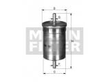 Топливный фильтр  Фильтр топливный OPEL/GM/VAG  Внешний диаметр [мм]: 55 Наружный диаметр 1 [мм]: 55 Впускн. Ø [мм]: 7,9 Выпускн.-Ø [мм]: 7,9 Высота [мм]: 163