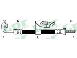 Тормозной шланг  Шланг торм M10x1x495 пер.лев Escort (F06461)  Длина [мм]: 425 для артикула №: 6T46628 Размер резьбы 1: ø10 Размер резьбы 2: M 10 X 1