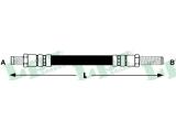 Тормозной шланг  Шланг тормозной M10x1x455mm зад. Escort  Длина [мм]: 490 для артикула №: 6T46223 Размер резьбы 1: M 10 X 1 Размер резьбы 2: M 10 X 1