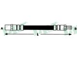 Тормозной шланг  Шланг торм M10x1X445 пер E30/6/4 (F09784)  Длина [мм]: 445 для артикула №: 6T46162 Размер резьбы 1: F 10 X 1 Размер резьбы 2: M 10 X 1