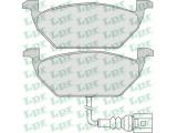 Комплект тормозных колодок, дисковый тормоз  Колодки тормозные AUDI A3 >03/VW G4/G5/SKODA OCTAVIA 1.4/1.6/1.9D  Толщина [мм]: 19,7 Ширина (мм): 146 Высота [мм]: 54,7 Количество датчиков износа: 1 для артикула №: 05P692 Длина предупреждающего контакта [мм]: 145