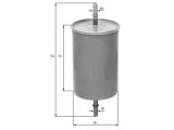 Топливный фильтр  Фильтр топливный OPEL/GM/VAG  Высота [мм]: 159,5 Высота [мм]: 77,5 диаметр 2 (мм): 7,9 диаметр 3 (мм): 7,9 Внешний диаметр [мм]: 54,7