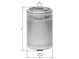 Топливный фильтр  Фильтр топливный AUDI 80/A4/A6/A8 1.6-6.0/VW PASSAT 2.0-4.0 96-05  Высота [мм]: 125 Внешний диаметр [мм]: 74,5 Размер резьбы 1: M14x1,5 Размер резьбы 2: M12x1,5