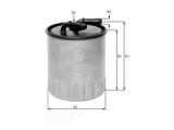 Топливный фильтр  Фильтр топливный MB W211/203/639 CDI  Высота [мм]: 100 Высота [мм]: 113 диаметр 2 (мм): 8 Внешний диаметр [мм]: 86,5