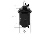 Топливный фильтр  Фильтр топливный HONDA  Высота [мм]: 104 Высота [мм]: 73 Внешний диаметр [мм]: 60,5 Размер резьбы 1: M12x1,25 Размер резьбы 2: M14x1,5