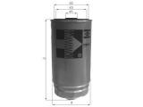 Топливный фильтр  Фильтр топливный HYUNDAI ACCENT/MATRIX/H-1 CRDI  Диаметр [мм]: 80 Высота [мм]: 140 Размер резьбы: M16x1,5 диаметр 2 (мм): 70 диаметр 3 (мм): 61,5 Исполнение фильтра: Накручиваемый фильтр
