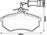 Комплект тормозных колодок, дисковый тормоз  Колодки тормозные AUDI 80 86-91/VOLKSVAGEN GOLF III/PASSAT 88-96   Качество: 291 Сторона установки: передний мост проверочное значение: ECE-R90 Ширина (мм): 119 Высота [мм]: 69,5 Толщина [мм]: 16,3 Датчик износа: вкл. датчик износа Дополнительный артикул / Дополнительная информация: с аксессуарами Тормозная система: TRW
