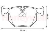 Комплект тормозных колодок, дисковый тормоз  571545J-AS Колодки торм зад BMW E31/E34 M5  Сторона установки: задний мост Качество: 508 Ширина (мм): 123 Высота [мм]: 59,4 Толщина [мм]: 16,8 Датчик износа: подготовлено для датчика износа колодок Тормозная система: ATE