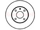 Тормозной диск  Диск торм зад FORD ESCORT 90->99  Сторона установки: задний мост Диаметр [мм]: 270 Высота [мм]: 62,7 Толщина тормозного диска (мм): 10 Минимальная толщина [мм]: 8,6 Тип тормозного диска: полный Количество отверстий: 4