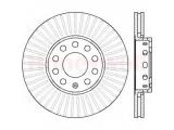 Тормозной диск  Диск тормозной VOLKSWAGEN PASSAT 01>05/SKODA SUPERB 02> передний   Сторона установки: передний мост Диаметр [мм]: 288 Высота [мм]: 46,2 Толщина тормозного диска (мм): 25 Тип тормозного диска: вентилируемый Количество отверстий: 5 Минимальная толщина [мм]: 23 Тормозная система: ATE