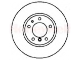 Тормозной диск    Сторона установки: передний мост Диаметр [мм]: 302 Высота [мм]: 76,1 Толщина тормозного диска (мм): 22 Тип тормозного диска: вентилируемый Минимальная толщина [мм]: 20,4 Количество отверстий: 5