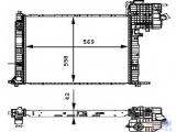 Радиатор, охлаждение двигател  Радиатор двигателя MB VITO 2.0/2.3/2.0D/2.2D 96-04  Длина [мм]: 569 Ширина (мм): 558 Глубина [мм]: 42 Оснащение / оборудование: для автомобилей с кондиционером для оригинального номера: 638 501 2801 Вид коробки передач: Автоматическая коробка передач Версия: produced by BEHR