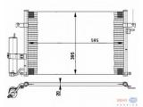 Конденсатор, кондиционер  Радиатор кондиционера GM LACETTI 1.4-1.8 05-  Длина [мм]: 595 Ширина (мм): 395 Глубина [мм]: 20 Дополнительный артикул / Доп. информация 2: с осушителем