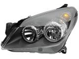 Основная фара  Фара R OPEL ASTRA H 04- (черная)  Количество функций лампы освещения: 4 ограничение производителя: Ref. 20 Сторона установки: справа Дополнительный артикул / Доп. информация 2: с мотором регулировки дальности света Ключевая литера: GW Тип ламп: H21Вт Тип ламп: H7 / H1 Тип ламп: W5W Функция осветительного прибора: С мигающим огнем Тип осветительного прибора: Галоген Оптический отпечаток: черный цвет указателей поворота: прозрачный Функция осветительного прибора: С ближним светом Функция осветительного прибора: С дальним светом Функция осветительного прибора: Со стояночным огнем Лево-/правостороннее движение: для правостороннего движения проверочное значение: E1 1770