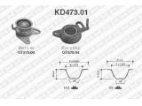 Комплект ремня ГРМ  Комплект ремня ГРМ MITSUBISHI L200/L300/PAJERO 2.5D  Количество ремней: 2
