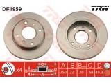 Тормозной диск    Тип тормозного диска: вентилируемый Диаметр [мм]: 250 Толщина тормозного диска (мм): 22 Минимальная толщина [мм]: 20 Диаметр центрирования [мм]: 68 Высота [мм]: 49 Количество отверстий: 4 Размер резьбы: 13 Ø фаски 2 [мм]: 114