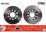 Тормозной диск  Диск торм зад A4 1.8T/1.9TD 01-> (562192J)  Тип тормозного диска: полный Диаметр [мм]: 245 Толщина тормозного диска (мм): 9,9 Минимальная толщина [мм]: 8 Диаметр центрирования [мм]: 68 Высота [мм]: 39,8 Количество отверстий: 10 Размер резьбы: 15,5 Ø фаски 2 [мм]: 112
