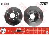 Тормозной диск    Тип тормозного диска: полный Диаметр [мм]: 300 Толщина тормозного диска (мм): 10 Минимальная толщина [мм]: 8,4 Диаметр центрирования [мм]: 75 Высота [мм]: 95 Количество отверстий: 5 Размер резьбы: 15 Ø фаски 2 [мм]: 120