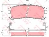 Комплект тормозных колодок, дисковый тормоз  Колодки торм зад Galant/SpaceRunner(572186J)  ограничение производителя: AKEBONO Датчик износа: вкл. датчик износа проверочное значение: E9 90R 01120/233 Высота [мм]: 41 Длина [мм]: 107,8 Толщина [мм]: 15,5
