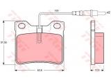 Комплект тормозных колодок, дисковый тормоз  Колодки торм зад MB V-Class/VITO(571845J)  ограничение производителя: ATE Датчик износа: вкл. датчик износа проверочное значение: E1 90R 01025/370 Высота [мм]: 57,55 Длина [мм]: 63,8 Толщина [мм]: 17