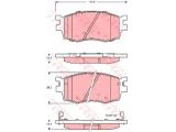 Комплект тормозных колодок, дисковый тормоз  Колодки тормозные HYUNDAI ACCENT/i20/KIA RIO 05- передние  Длина [мм]: 129,8 Высота [мм]: 56 Толщина [мм]: 17,7 ограничение производителя: MANDO Датчик износа: с звуковым предупреждением износа проверочное значение: E9 90R - 01107/1284