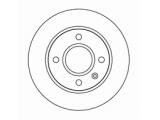 Тормозной диск  Диск торм пер вент ESCORT 90-95 (DF1659)  Диаметр [мм]: 239,5 Высота [мм]: 42,8 Тип тормозного диска: вентилируемый Толщина тормозного диска (мм): 20,0 Минимальная толщина [мм]: 18 Диаметр центрирования [мм]: 63,5 Число отверстий в диске колеса: 4