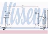 Конденсатор, кондиционер  Радиатор конд VAG A4/PASSAT 1.6-1.9 95-01  Размеры радиатора: 565 X 420 X 20 mm Материал: алюминий