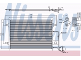 Конденсатор, кондиционер  Радиатор кондиционера VAG PASSAT/SUPERB 1.6-2.8/1.9-2.5 TDi 00-  Размеры радиатора: 618 X 421 X 16 mm Материал: алюминий