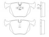 Комплект тормозных колодок, дисковый тормоз  Колодки тормозные дисковые задние  Датчик износа: подготовлено для датчика износа колодок Толщина [мм]: 17,3 Ширина (мм): 123 Высота [мм]: 59,4 Тормозная система: Teves WVA номер: 21282