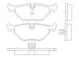Комплект тормозных колодок, дисковый тормоз  Тормозные колодки дисковые  Датчик износа: подготовлено для датчика износа колодок Толщина [мм]: 17,3 Ширина (мм): 123 Высота [мм]: 45 Тормозная система: Teves WVA номер: 20995