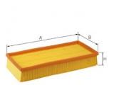 Воздушный фильтр  Фильтр воздушный  Длина [мм]: 255 Ширина (мм): 184 Высота [мм]: 57