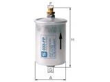 Топливный фильтр  Фильтр топливный  Исполнение фильтра: Прямоточный фильтр Наружный диаметр 1 [мм]: 74 Размер резьбы 1: M12 x 1,5 Размер резьбы: M14 x 1,5 Высота [мм]: 130