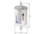Топливный фильтр  Фильтр топливный  Исполнение фильтра: Прямоточный фильтр Наружный диаметр 1 [мм]: 74 Выпускн.-Ø [мм]: 8 Впускн. Ø [мм]: 8 Высота [мм]: 158