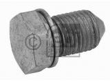Резьбовая пробка, маслянный поддон  Болт поддона сливной M14x1.5mm  Длина [мм]: 29,5 Внешняя резьба [мм]: M 14 x 1,5 Ширина зева гаечного ключа: 19 Материал: сталь Поверхность: дакрометизировано Длина [мм]: 22 Вес [кг]: 0,04 необходимое количество: 1