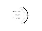 Комплект тормозных колодок, стояночная тормозная система  Колодки тормозный задние барабанные  Ширина (мм): 20 Диаметр [мм]: 178 Номер технической информации: 98101 0546 1 4