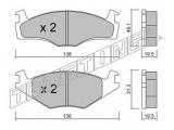 Комплект тормозных колодок, дисковый тормоз    Тормозная система: Kelsey Hayes Ширина 1 [мм]: 138 Высота 1 [мм]: 49,1 Толщина 1 [мм]: 19,5 Ширина 2 [мм]: 138 Высота 2 [мм]: 51,3 Толщина 2 [мм]: 19,5 Датчик износа: не подготовленно для датчика износа проверочное значение: ECE R90 APPROVED Дополнительный артикул / Дополнительная информация: без аксессуаров