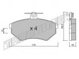 Комплект тормозных колодок, дисковый тормоз  КОЛОДКИ ТОРМОЗНЫЕ ДИСКОВЫЕ  Тормозная система: Lucas - Girling Ширина (мм): 119 Высота [мм]: 69,6 Толщина [мм]: 16 Датчик износа: не подготовленно для датчика износа проверочное значение: ECE R90 APPROVED