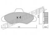 Комплект тормозных колодок, дисковый тормоз  КОЛОДКИ ТОРМОЗНЫЕ ДИСКОВЫЕ  Тормозная система: Bendix - Bosch Ширина (мм): 131 Высота [мм]: 57,5 Толщина [мм]: 18,5 Датчик износа: не подготовленно для датчика износа проверочное значение: ECE R90 APPROVED