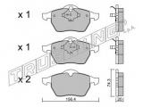 Комплект тормозных колодок, дисковый тормоз  Цилиндр торм.глав.OPEL ASTRA/VECTRA/KADETT 84-95 (ABS)  Тормозная система: Ate - Teves Ширина (мм): 156,4 Высота [мм]: 74,3 Толщина [мм]: 20 Датчик износа: не подготовленно для датчика износа проверочное значение: ECE R90 APPROVED