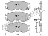 Комплект тормозных колодок, дисковый тормоз  Свеча зажигания BCPR6ES  Тормозная система: Akebono Ширина (мм): 128 Высота [мм]: 51,8 Толщина [мм]: 15 Датчик износа: с звуковым предупреждением износа