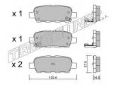 Комплект тормозных колодок, дисковый тормоз    Тормозная система: Akebono Ширина (мм): 105,4 Высота [мм]: 37,9 Толщина [мм]: 14,5 Датчик износа: с звуковым предупреждением износа проверочное значение: ECE R90 APPROVED