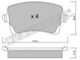 Комплект тормозных колодок, дисковый тормоз  Колодки тормозные задние дисковые  Тормозная система: Lucas - Girling Ширина (мм): 116,4 Высота [мм]: 58,6 Толщина [мм]: 17,5 проверочное значение: ECE R90 APPROVED Датчик износа: не подготовленно для датчика износа