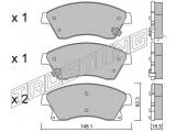 Комплект тормозных колодок, дисковый тормоз  Колодки тормозные передние дисковые  Тормозная система: Bosch Ширина (мм): 148,1 Высота [мм]: 60,3 Толщина [мм]: 18,5 Датчик износа: с звуковым предупреждением износа проверочное значение: ECE R90 APPROVED