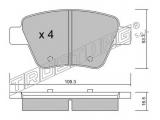 Комплект тормозных колодок, дисковый тормоз  Колодки тормозные задние дисковые  Тормозная система: Bosch Ширина (мм): 109,3 Высота [мм]: 53,3 Толщина [мм]: 16,5 Датчик износа: не подготовленно для датчика износа проверочное значение: ECE R90 APPROVED